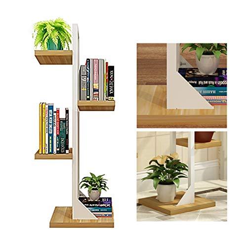 MDELRulde Plant Stand Soportes para plantas 4-estantes Estantería Macetas Fácil Montaje For Interiores Exteriores Balcones Terrazas Soporte de exhibición (Color : White)