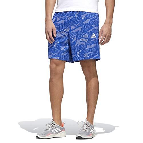 adidas Pantalones Cortos para Hombre Essentials All Over Print Team Azul/Blanco XS