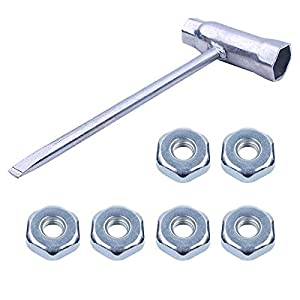 13 x 19 mm Motosierra Scrench con 6 tuercas de barra Para Stihl 017018 019 020 021 023 024 025 026 028 034 Motosierra Repuestos Herramientas de reparación