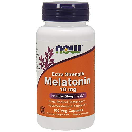 NOW Supplements Melatonin Extra Strength 10 mg 100 Veg Capsules