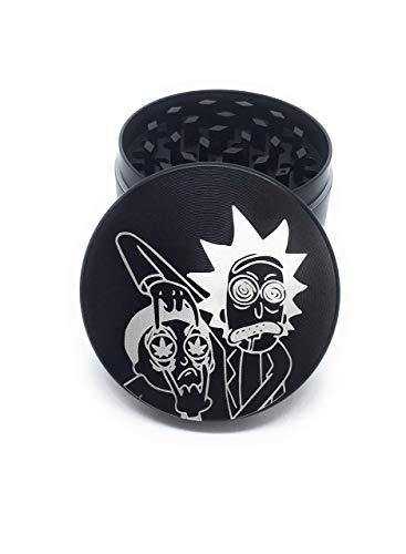 Royale grinder Rick Sanchez 50 mm Grinder 4-teiliges Gewürzmühle mit Pollenauffang, Pro Design, Qualität Grinder Zink 50mm, Modell Rick und Morty Limited Edition …