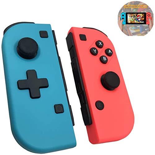 Amazan Manette de rechange pour Nintendo Switch, Joystick sans fil Bluetooth Manette de jeu sans fil double moteur Axis Gyro compatible avec Nintendo Switch Pro