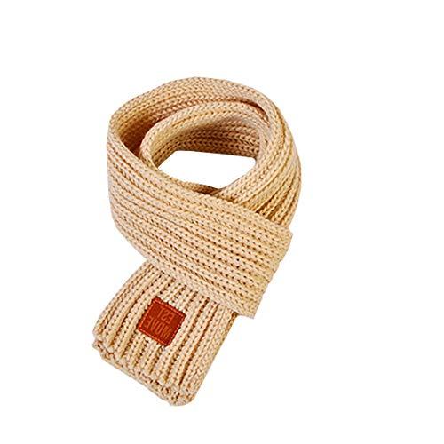 Boomly Baby Kinder Strickschal Wollschal Niedlich Winter warm Schals Halstücher Nackenwärmer Für Jungen Mädchen (Beige)