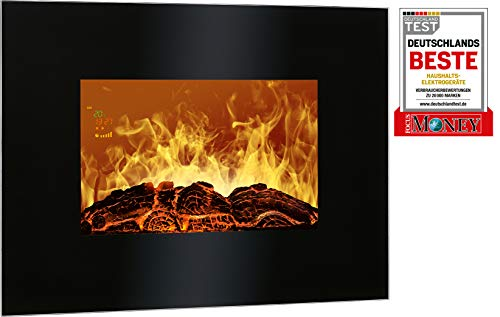 Bomann EK 6020 CB Wall-mountable fireplace Elettrico Nero Interno