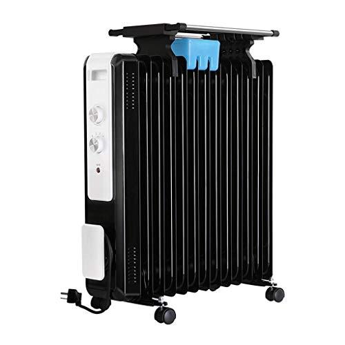 alvyu Ölradiator, energieeffiziente Heizkörper 2200W / 11Heat ableitenden Elemente, Dumping Power Off/Überhitzungsschutz und 3 Leistungseinstellung, mit Trocknung Weiß-Rack
