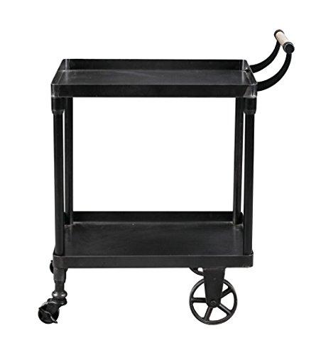 Burnham Home Katrina bar Cart/Serving Cart, Black