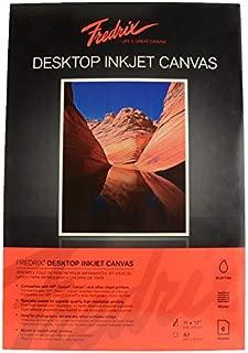 Fredrix 3522 Desktop Inkjet Canvas, 11 x 17 in, Clear, Pack of 6 sheets