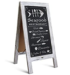 HBCY Creations Rustic Message Board Display - Best Shed Bar Ideas