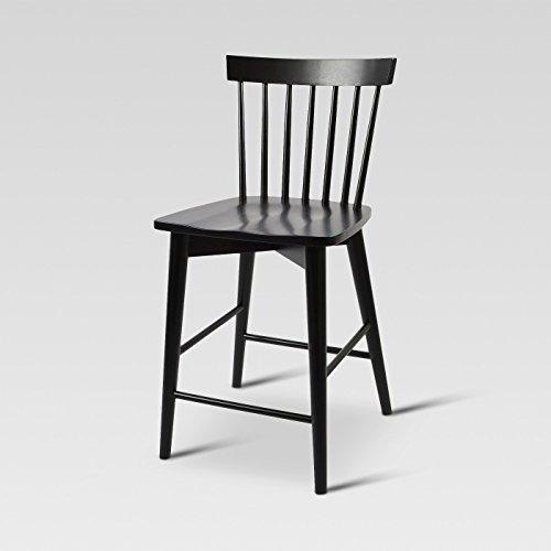 Windsor Counter Stool Hardwood Black - Threshold™