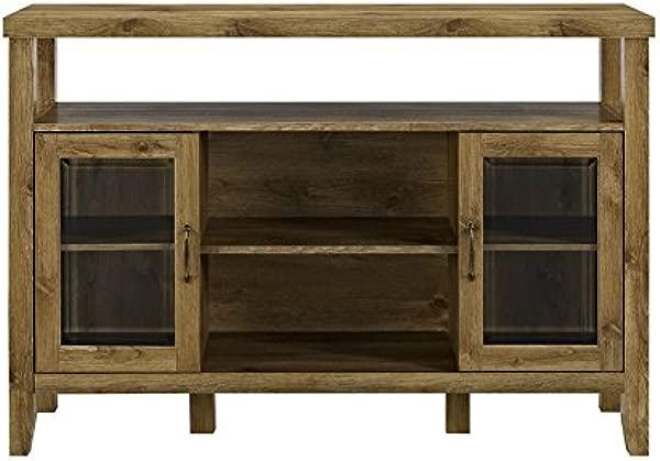 Pemberly Row 52 Wood Console High Boy Buffet In Barnwood