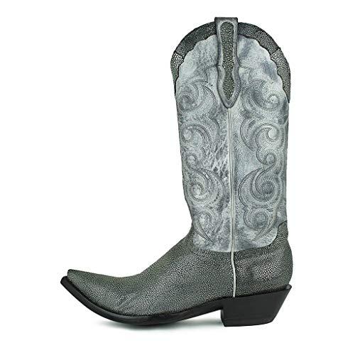 Sendra Boots Texas Mantaraya Negro-Gris-41