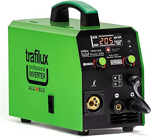 3 en 1 MIG GAS Soldadura inverter Sinérgica con un Sistema Automático de ajustes Para soldar el acero y aluminio TRAFILUX 200A MMA Mango Soldadura 220V 6kg! ¡Accesorios adicionales! ¡Muchos extras!
