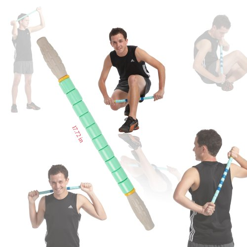Gurin Massage Roller - 17.7 Inches (Treats Muscle Pain, Knots, Trigger Points, Sports Injuries, Muscle Massage, Increases Muscle Flexibility and Strength)