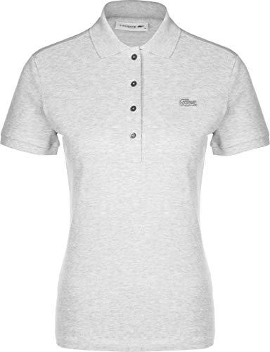 Lacoste Damen Poloshirt Slim Fit Kurzarm Silber (12) 42