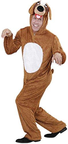 Widmann 9276C - Erwachsenenkostüm Hund, Overall mit Maske