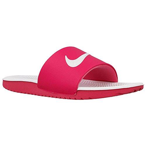 Nike Nike Mädchen Kawa Slide GS/PS Dusch- & Badeschuhe, Mehrfarbig (Vivid Pink / White), 31 EU