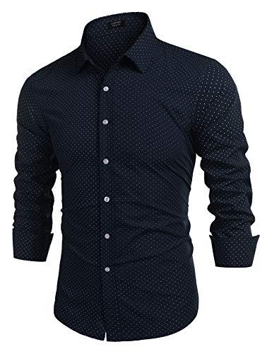 COOFANDY Herren Hemd Slim fit Langarm Hemden freiyeit bügelfreies Hemd