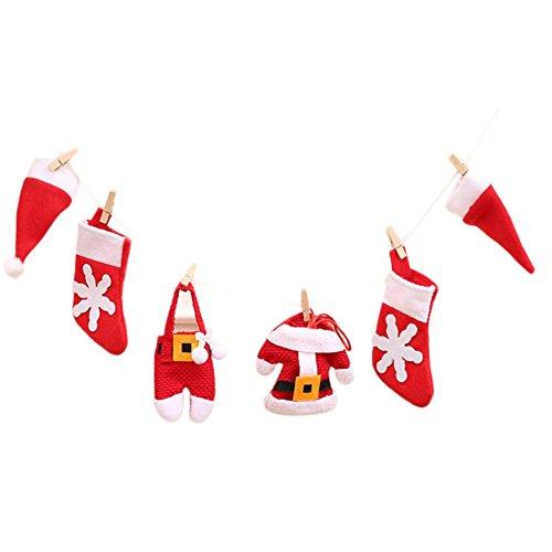 JUNGEN 1Set Décoration de Noël Tirez Le Drapeau de Noël Cadeaux de Noël Arbre Christmas Trees Décor de Vacances