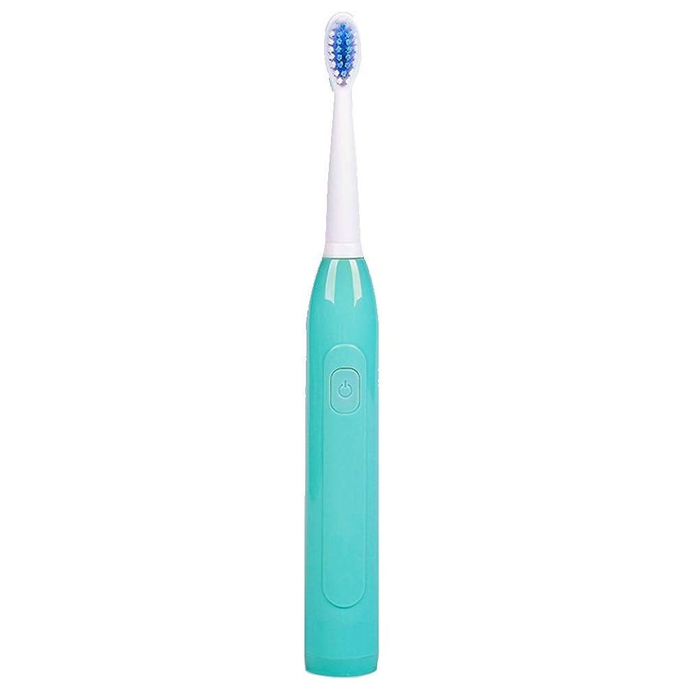 アカウント巻き取りヒュームカップルモデルスマート電動歯ブラシ、音波洗浄、防水および防塵ロングスタンバイ (色 : 緑)