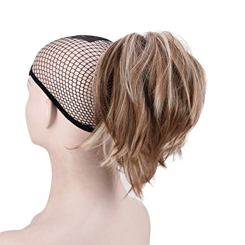 Ponytail Hair Extensions Messy Short Ponytail Synthetic Hair Clip in Ponytail (12H26)