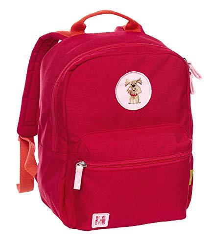 SIGIKID Mädchen, Kinder-Rucksack Hund aus recyceltem REPREVE polyester 450D, Green Collection, empfohlen für 3-7 Jährige, rot, 25148