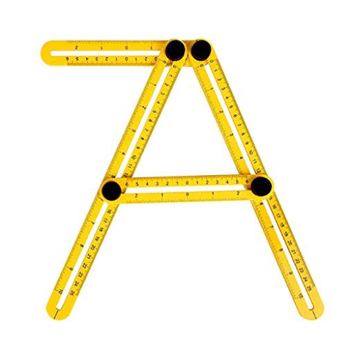 HFDGDFK Herramienta de Plantilla Profesional Regla de ángulo Transportador de medición Actividad Regla de Cuatro Pliegues con Escala métrica en Pulgadas