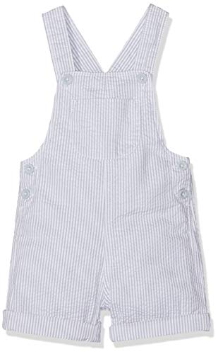 United Colors of Benetton Bebé-Niños Dungaree Mono Not Applicable, (Righe Bianco/Grigio 903),...