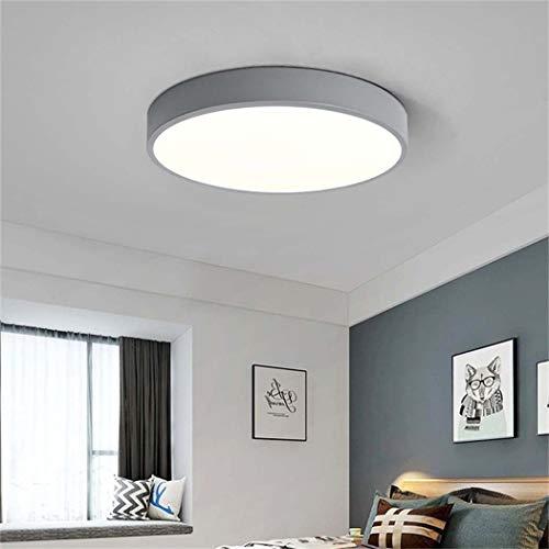 QCKDQ Ronde plafondlampen, 40 cm, dun, plat, inbouw, moderne verlichtingstoestellen voor eetkamer, hal, woonkamer, slaapkamer, 24 W