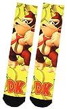 Nintendo Super Donkey Kong DK Gone Bananas! Sublimated Crew Socks