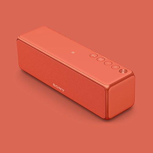 ソニーワイヤレスポータブルスピーカーSRS-HG10:Bluetooth/Wi-Fi/LDAC/ハイレゾ/専用スマホアプリ対応2018年モデル/マイク付き/トワイライトレッドSRS-HG10R
