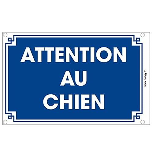 Doogy Plaque Motif Attention au Chien 10 x 15 cm