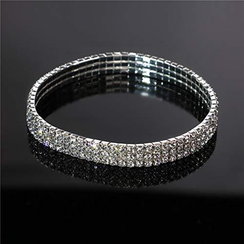 Rurah Bridal Princess Stretch Sparkling Crystal Clear Diamond Ankle Bracelet Anklet