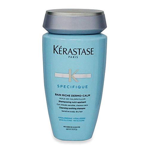 Kérastase Spécifique - Bain Riche Dermo-Calm - Shampoo Nutritivo per la irritazione del cuoio capelluto e capelli secchi, 1 x 250 ml