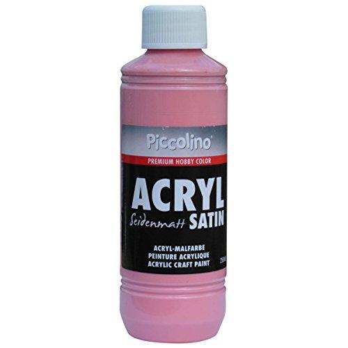 Acrylfarbe seidenmatt Alt-Rosa 250ml Flasche - Piccolino Acryl Satin, Premium Hobby Color