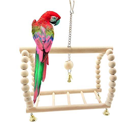 Vögel aus Naturholz für Papageien Wellensittiche Nymphensittiche Sittiche Finken Kanarienvogel, Kakadus Afrikanische Graue Aras Eclectus Amazon-Käfig-Zubehör Ständer Sitzstange