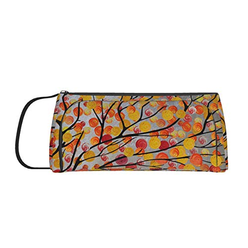 Autumn Trees Painting Storage Pouch,Pencil Case Stationery Bag Holder for School Office College Student Girl Adult Teen Christmas Gift