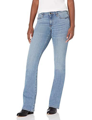 Amazon Essentials Women's Mid-Rise Authentic Bootcut Jean, Light Blue, 10 Regular