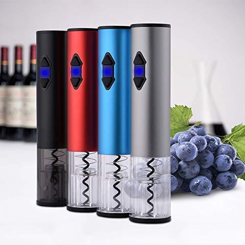 NATURAL LOGISTICS Sacacorchos eléctrico. Abridor Profesional. Abre tu Vino sin Esfuerzo. Utensilio Cocina Moderna. Kottao (Azul)