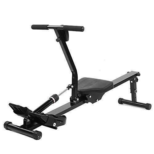 Dioche Máquina de remo para aerobic, plegable, remo de fitness, remo de resistencia ajustable con pantalla digital, mejora la función cardiorespiratoria mediante ejercicios aeróbicos.