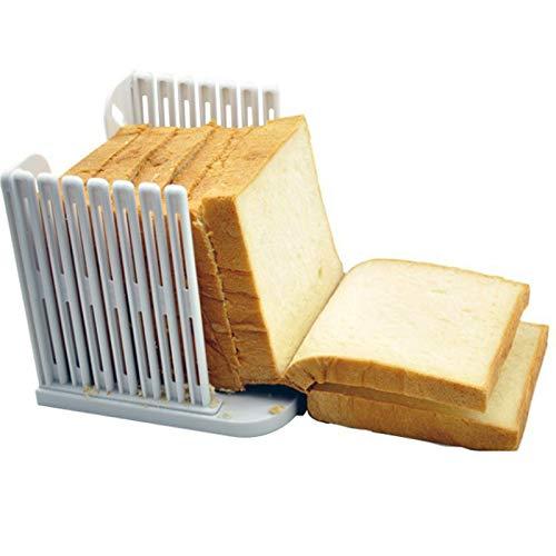 OhhGo Brotschneider, Bagelschneider, Brotlaibhobel, ABS-Kunststoff, ungiftig, harmlos, abnehmbare Aufbewahrung für Schinken, Käse, Obst und Gemüse