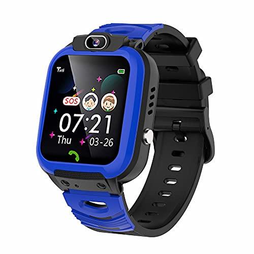Vannico Reloj Inteligente Niño, 14 Juegos Video MP3 Música Smartwatch para Niña Game Watch, Relojes para Niños Infantiles con Llamada Telefónica SOS Cámara Despertador 3-14 Años Regalo