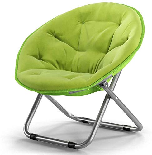Mopoq Oxford Large Saucer Chair,Folding Chair with Metal Frame Soft Moon Chair Leisure Chair for Kids Adult Lounging Dorms Floor Chair Red 52x51x76cm(20x20x30inch) (Color : Green)