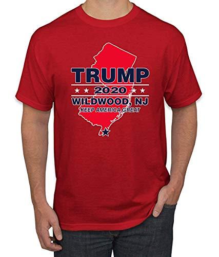 harry wang Trump Country Hace Que Nueva Jersey vuelva a ser roja Wildwood NJ Rally 2020 | Camiseta política para Hombre 5XL