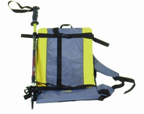 MORPHODOS Rucksack, Aufbewahrung für Schneeschuhe, Snowboard, Skier, Skiestöcke, GRAU/CAMEL