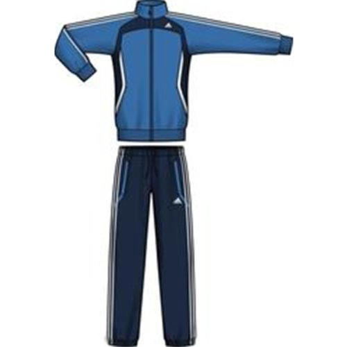 Intersport 2 pes Tentro Trainingspak BRIGHT BL/COLL Grootte: 4 (EU)