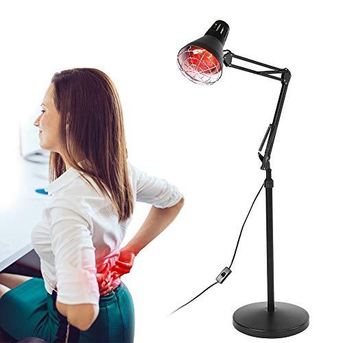 Cocoarm Infrarotlampe 275W Wärmelampe Rotlicht Strahler Infrarot-Wärmestrahler Konstante Temperatur Rotlichtlampe mit Standfuß Heiztherapie zur Linderung von Muskelschmerzen