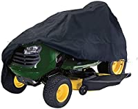 SKYWPOJU 芝刈り機カバー、芝刈り機カバー頑丈な防水オックスフォードクロスアンチUVプロテクター耐久性のある210D屋外ガーデン用防塵 (Color : Black, Size : XXL-245X50X140cm)