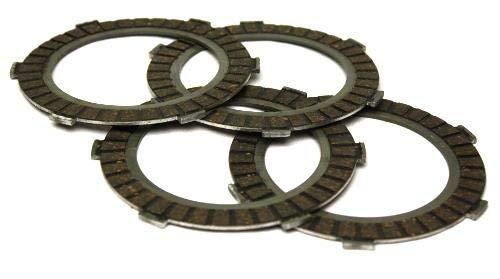 Kupplungslamellen Set (4 Stück) für Zündapp Mofas mit 2 3 4 5 Gang Motoren, ZD 20, ZD 25,TS 40,TS 50,CS 25,C 50 Sport,CS 50, GTS 50,KS 50,alle Modelle - Hai 25/50,ZX 25,X 25,ZL 25,ZS 25,ZE 40 UVM