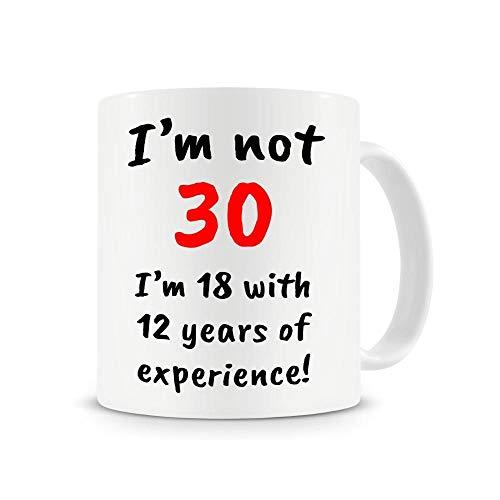 LongBin Taza De Café No Tengo 30 Tengo 18 Años 12 Años-P1_Box Packing