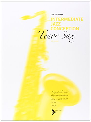 Intermediate Jazz Conception -- Tenor Sax: 15 Great Solo Etudes (English/German Language Edition) (Book & CD)